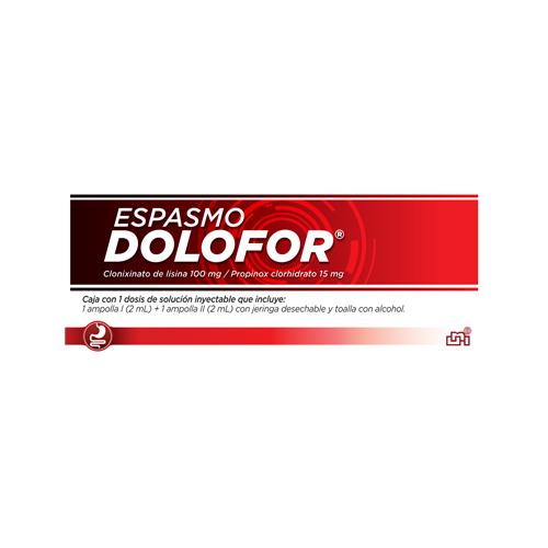 Presentacion Espasmo Dolofor Inyectable